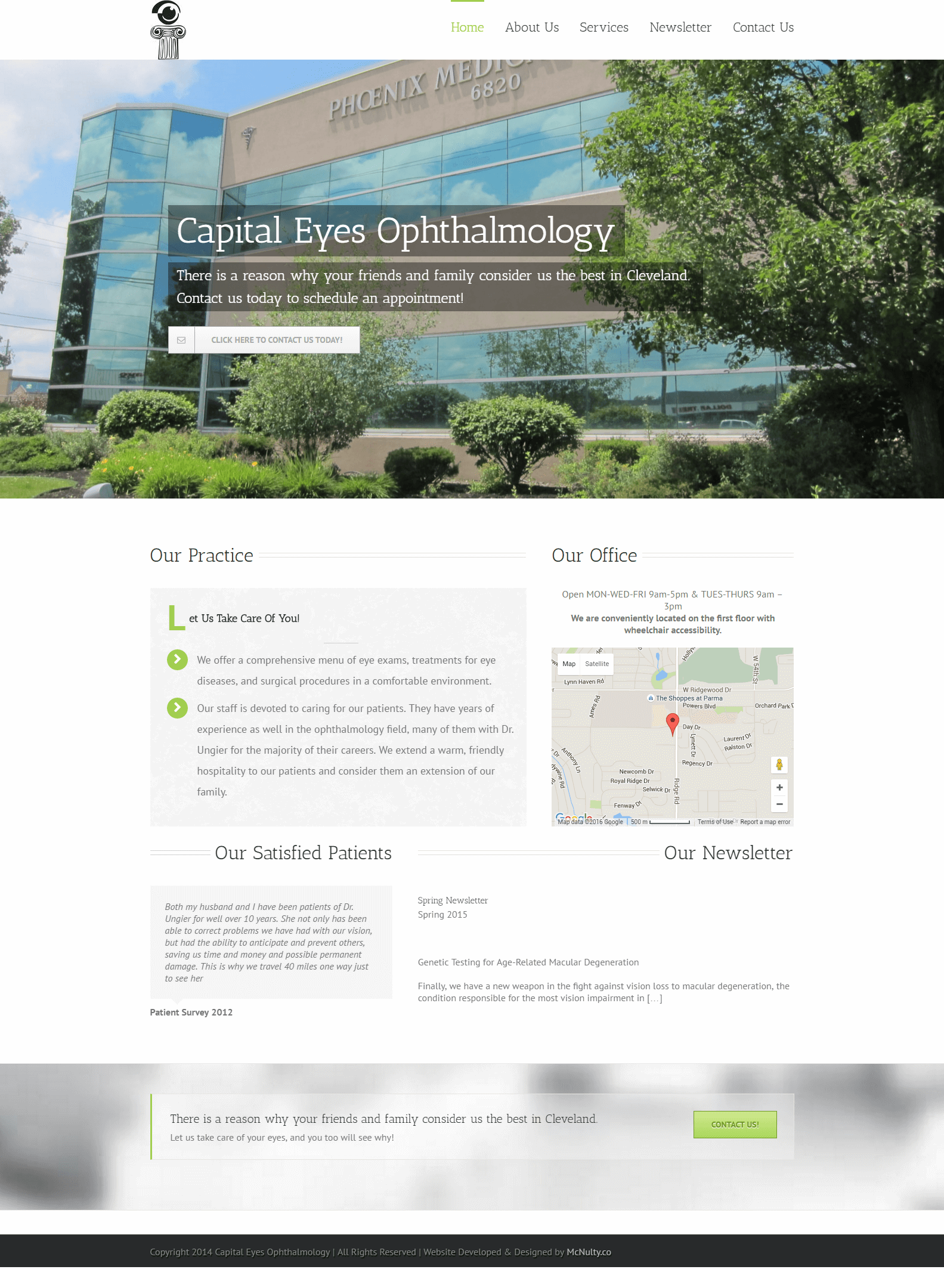 Capital Eyes Ophthalmology website